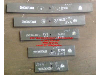 Лист 8х4 №09 передней рессоры L-750 H HOWO (ХОВО)