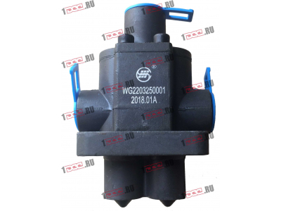 Клапан управления КПП (2 штока+3 отв. под трубки) H3 HOWO (ХОВО) WG2203250001