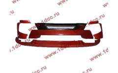 Бампер A7 красный в сборе самосвал с широкой губой фото Россия